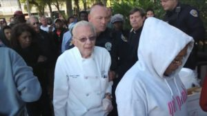 90-year-old Arnold Abbott is arrested for a second time after feeding the Fort Lauderdale homeless